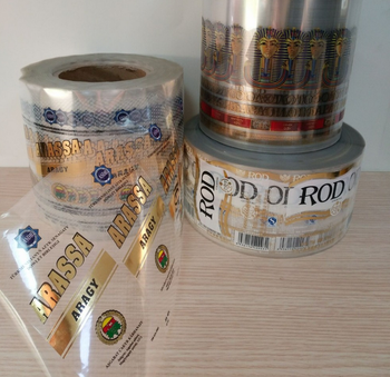 CUSTOMIZED PRINTING GOLD FOILED SELF ADHESIVE TRANSPARENT LABEL STICKER IN ROLL