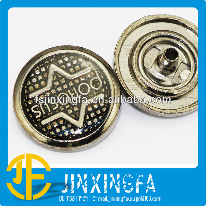 Fashion Shiny Zine Alloy Snap Button For Jeans & Snap Clip Metal Buttons