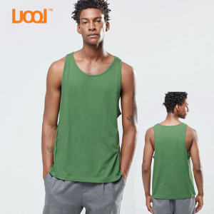 Oem Hot sales high quality 100% cotton 180g breathable sport use in plain custom green wholesale men tank tops