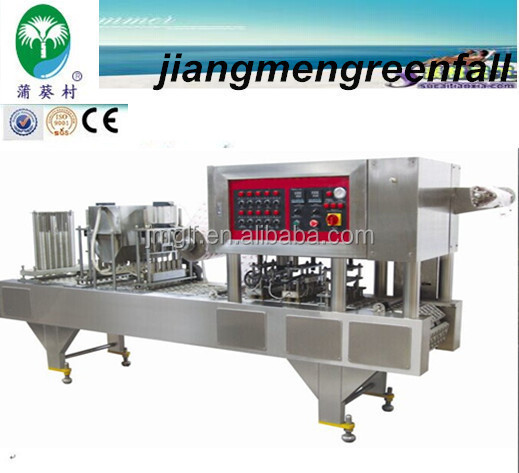 2014 latest technology cup water filling sealing machine /manufacturer /production line/cost