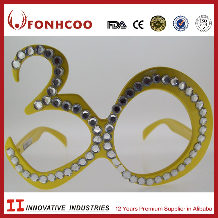 FONHCOO Seller Factory CE Any Logo 30th Birthday Party Sunglasses Diamond Glasses