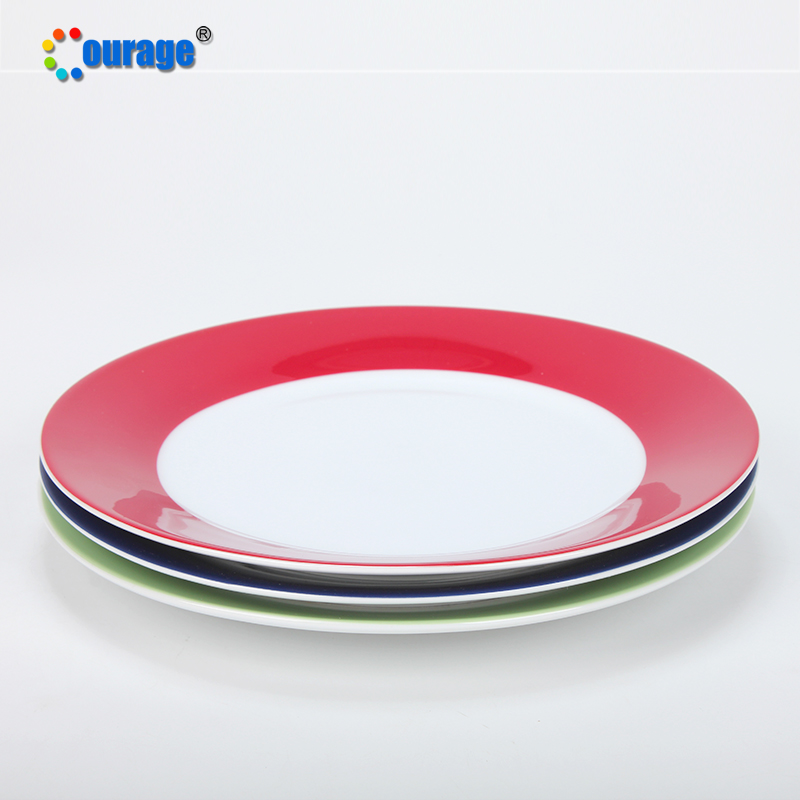 Sublimation Blank Ceramic Dinner <strong>Plate</strong> For Heat Transfer Printing
