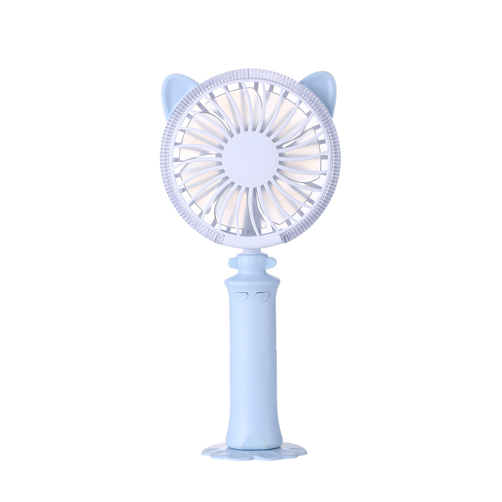 2018 Hot Sale Twisted Cat Mini Summer Fan Desktop Colorful Night Kipas Powerbank Pb Minifan Portable Anekim Af04 Handheld Light Usb Charging