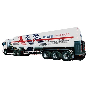 51m3 22 tons Refrigerated Liquefied Methane Natural Gas Semi Semi-trailer lng tank trailer