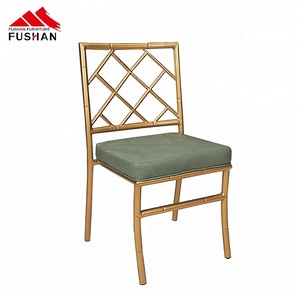 Factory sale stacking tiffany bridal chair gold metal aluminium chavari chairs for wedding event