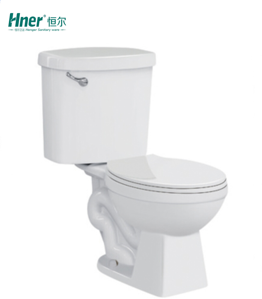 Ceramic Bathroom Water Closet Wc Pan Two Piece Siphonic Toilet