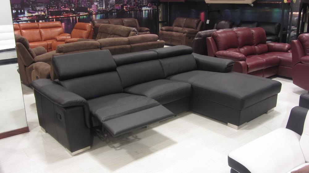 New L Shaped Sofa Designs Modern Genuine Leather Recliner Sofa Set ...
