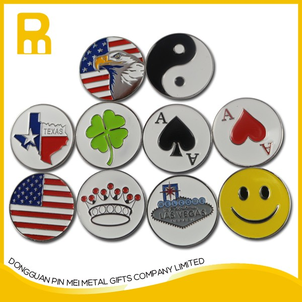 Wholesale USA flag golf hat clip magnetic ball marker