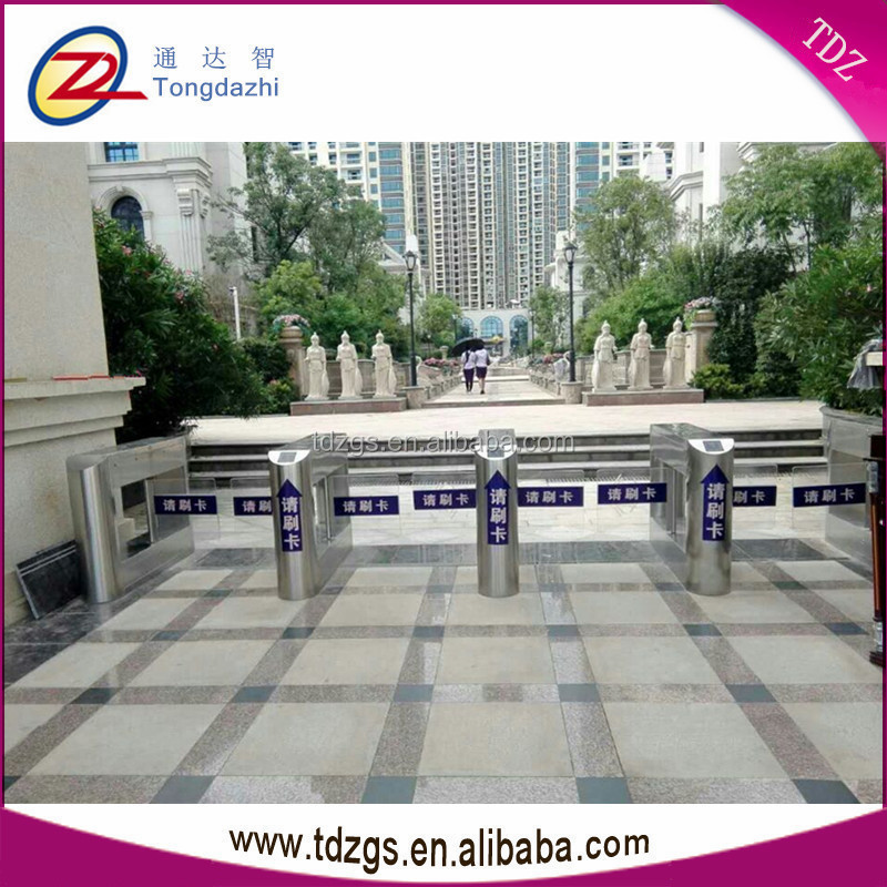 304 stainless steel front door security pedentrance access control system swing turnstile barriers