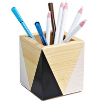 Nordic Style creative stationery kid Novelty handmade wooden Pen box Pencil Container pen holder