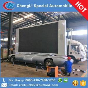 Mobile Advertising Truck P6 TV Screen Trailer Outdoor LED Display