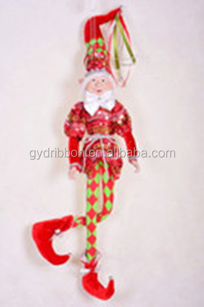 18 inch Christmas Elf Christmas Holiday Decoration/Hot Sale Fabric Christmas elf