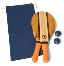 Luxe Strand Paddle Handgemaakte Houten Strand <span class=keywords><strong>Tennisracket</strong></span> Voor Promotie Strand Games