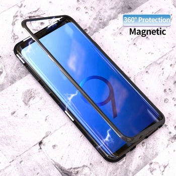 brand new 01637 64ee4 Magnetic Adsorption Case Clear Tempered Glass Magnet Phone Case For Samsung  S8 S8 Plus Note8 Metal Slim Cover - Buy Mobile Phone Case For ...