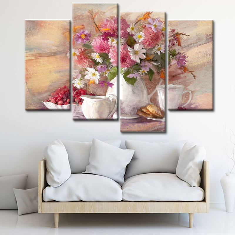 Flower painting wall pictures for living room wholesale wall picture suppliers alibaba