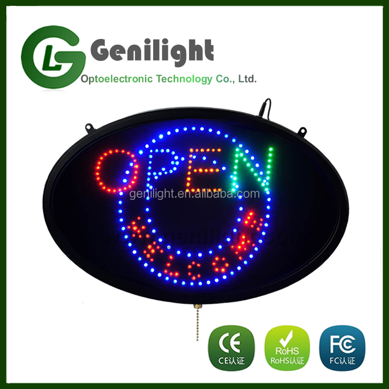 new images LED display flash high quality open sign