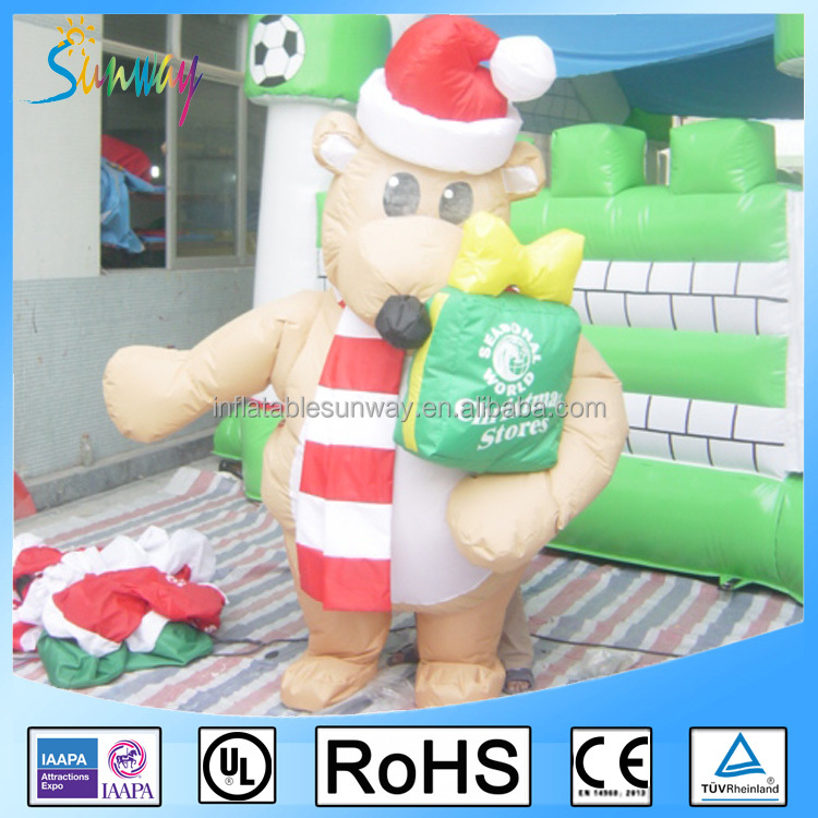 2017 Store outdoor decoratons inflatable christmas ornaments / inflatable christmas decorations