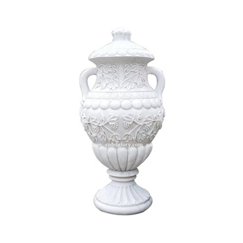 Stone Carving products Marble sculpture vase flower pot