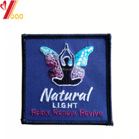 Wholesale cheap custom fashion design colorful 2D or 3D embroidery butterfly patch for garment