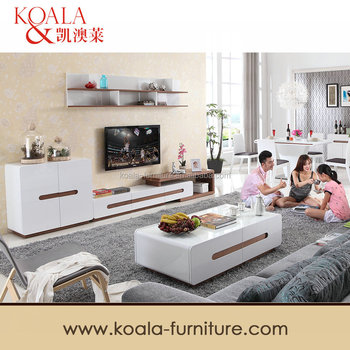 Modern Tv Stand In White High Gloss Painting Mdf Tv Table T - Modern tv stand and coffee table set