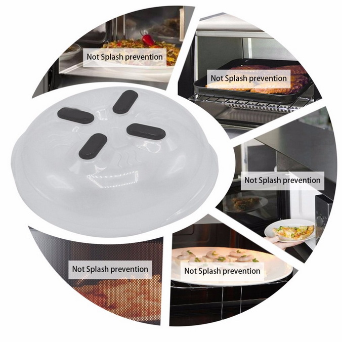 Hover Cover Magnetic Microwave Splatter Lid with Steam Vents