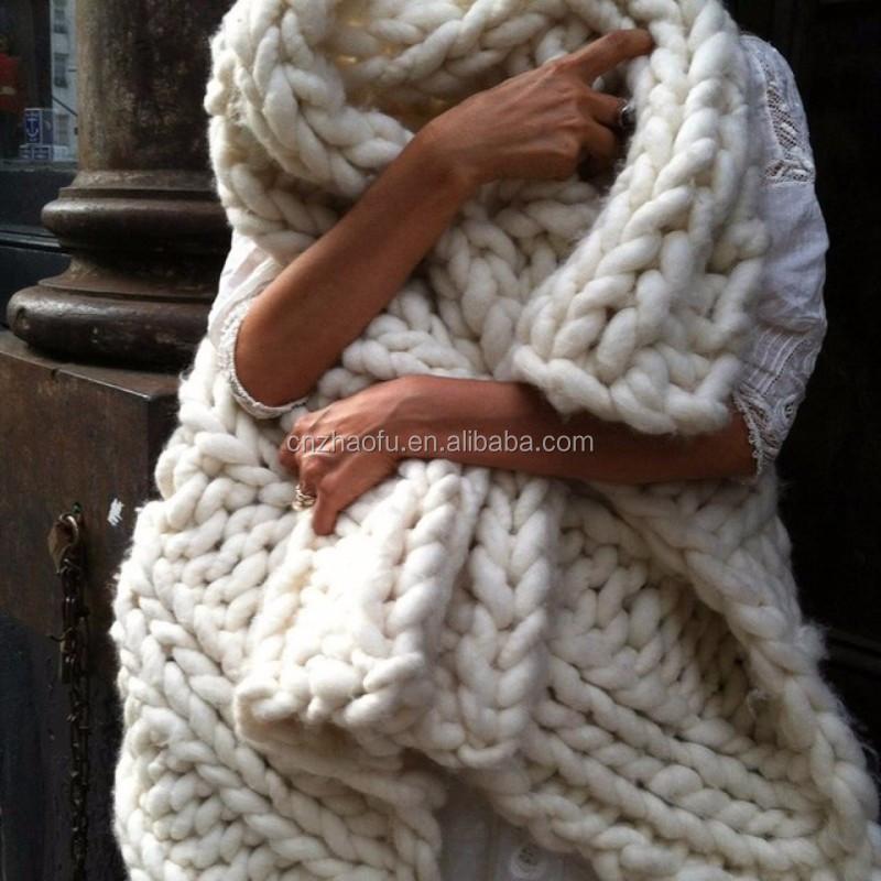 Custom Size And Colors Handmade Knit Blanket Throw Merino Wool ...