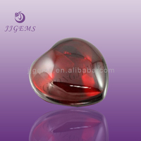 red colored glass stone bulk cabochons