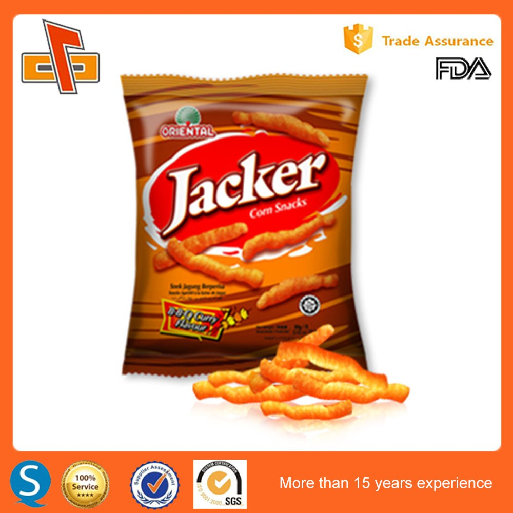 China Supplier Design Your Own Plastic Snack Food Packaging Bag