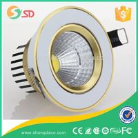 Shangda 10-50W 3 colors in one fitting led dimmable downlight CE,
