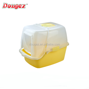 HOT SALE High quality plastic Cat luxury closed indoor toliet cat litter tray