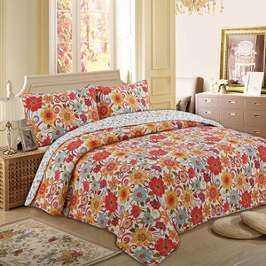 luxury printed patchwork quilt fabric comforters bed sheet bedding set