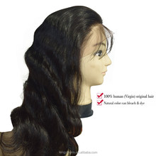 Unprocessed 100% remy india hair wig price sewing machine wigs human hair with baby hair