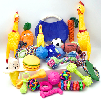 Custom pet dog chew toy set for little pet shop
