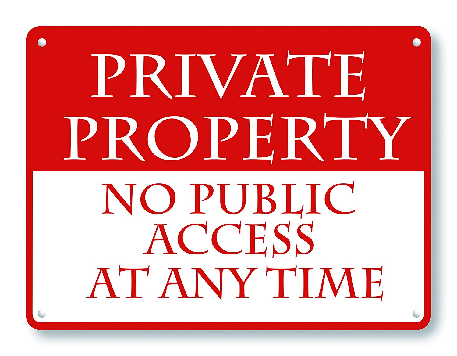 wendana No Public Access At Any Time Signs Aluminum Vintage Outdoor Yard Signs Funny Metal Signs Tin Sign Home Decor