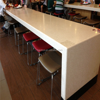 Gentil Long Table Design KFC Fast Food Bar Top High Table For Sale