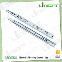 Linsont 45mm metal runners hardware roller ball bearing slides for drawers
