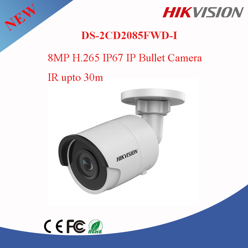 New Products Hikvision 8 MP IP67 &H.265 p2p Network Bullet Camera DS-2CD2085FWD-I