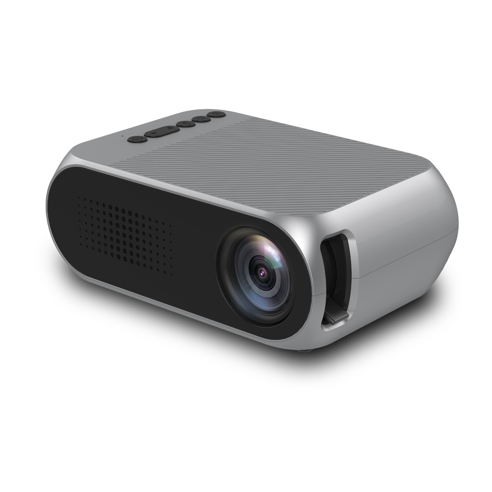 Video Projector Portable YG-320 Mini LCD Projector with Max 1920x1080p Resolution Multimedia LED Projector Support USB