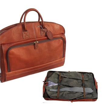 89f5de606958 Wholesale Foldable Vintage Leather Men Weekend Travel Garment Suit Bag With  Zipper Pockets - Buy Garment Suit Bag,Leather Garment Bag,Foldable Garment  ...