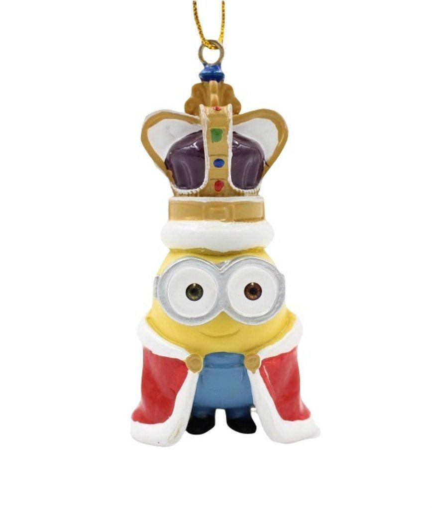 despicable me king bob minion christmas holiday ornament 225 inches - Minion Christmas Ornaments