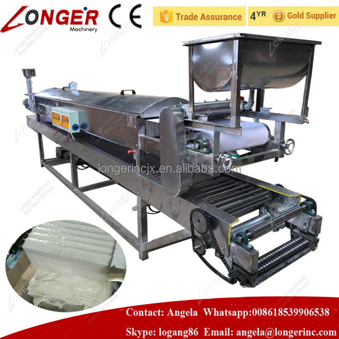 Automatic Stainless Steel Fresh Pho Noodle Machine Rice Noodle Machine