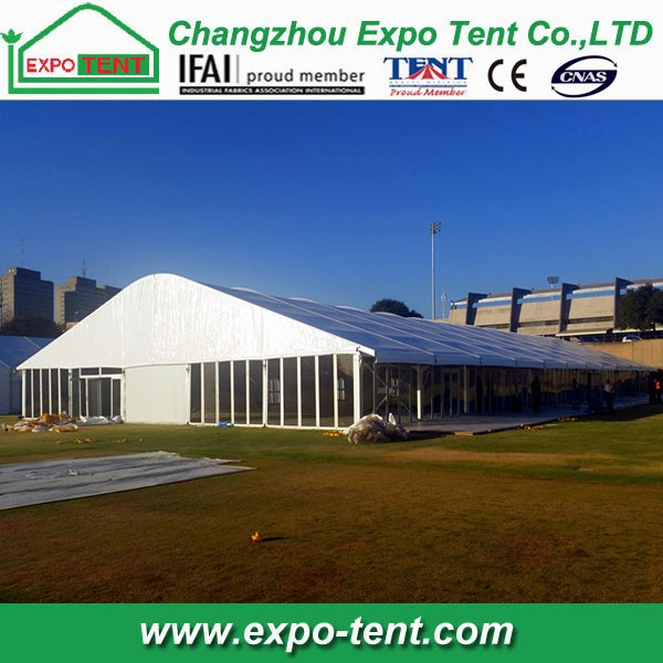 Big Glass Wall Permanent Outdoor Tent