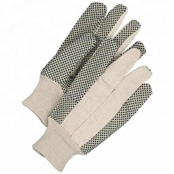GLOVEMAN Damen garten sicherheit pvc gepunktete palm leinwand handschuhe