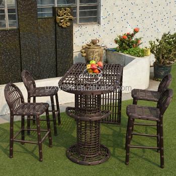 5249059873d9 garden set outdoor Bali island bar furniture PE wicker high bar outdoor  table & bar stool