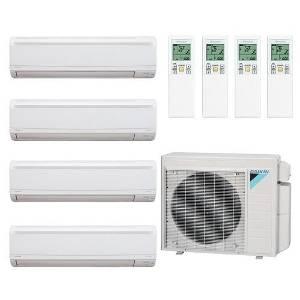 Daikin Air Conditioner Ductless Inverter 4 Zones Multi Quad-Zone Split System with 4 Indoor Units 9k+12k+12k+12k