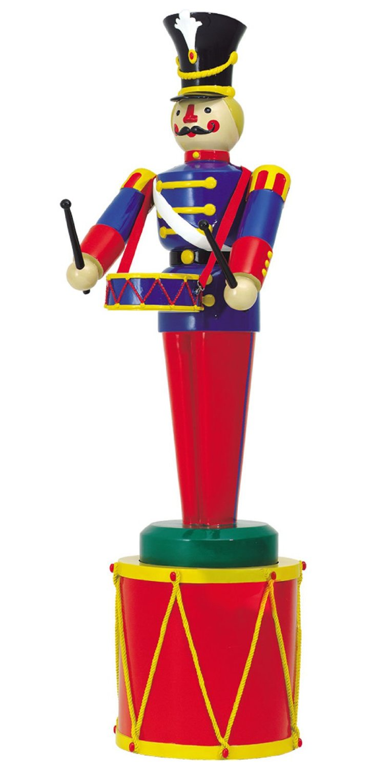 large life size soldier with drum and drum base outdoor christmas decorations ds 55 1003118