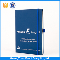 custom Logo a5 leather notebook pu cover with elastic