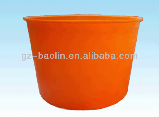 Orange colour cheap sale plastic bucket rotomolding plastic round water tank in high quality