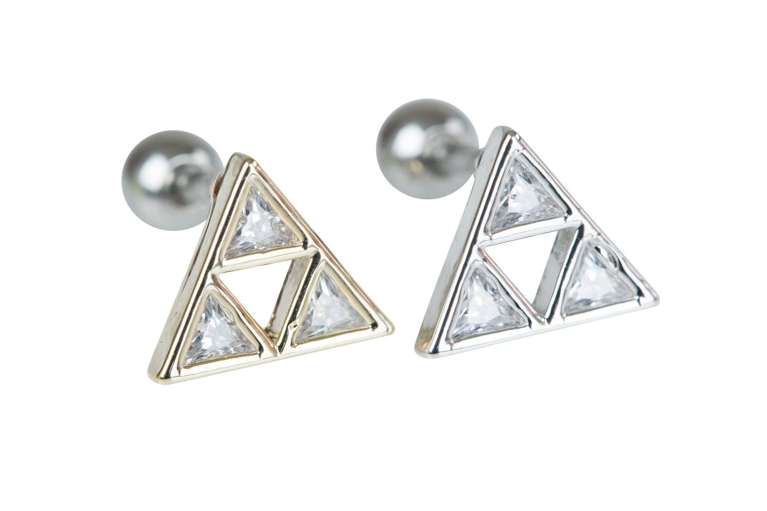 Crystal triangle piercing-WJ, triangle jewelry, triangle piercing, triangle shape jewelry, triangle shape piercing, triangle jewellry, geometric jewelry, Barbells, Body Jewelry, bo
