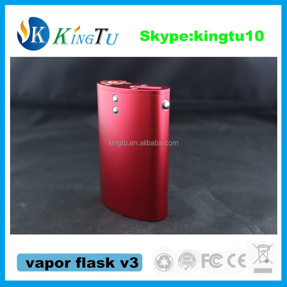 variable wattage vapor flask box mod with best quality and factory price vapor flask v3 clone from kingtu